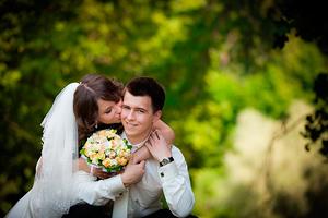 Свадебное фото - автограф любви