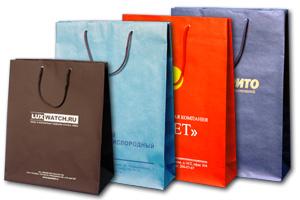Крафт-пакеты с фирменным логотипом