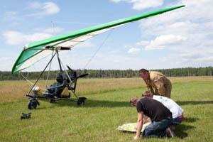 Полеты на дельтаплане в Московской области
